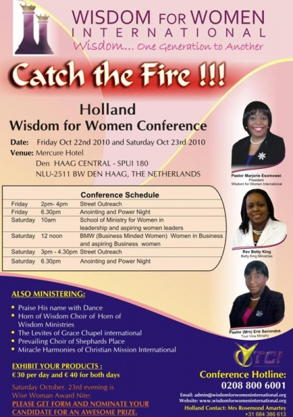 catch the fire    holland wisdom for women conference