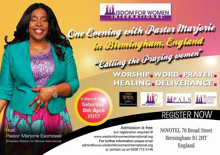 One evening with Pastor Marjorie in Birmingham, England
