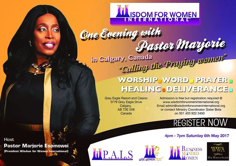 One Evening with Pastor Marjorie in Calgary, Canada @ Grey Eagle Resort and Casino