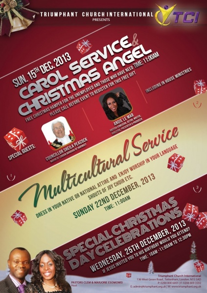 Special Christmas Day Celebrations @ Triumphant Church International | London | United Kingdom